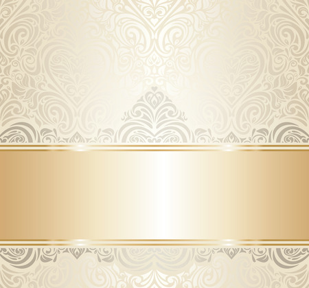 Illustration pour white   gold vintage invitation luxury background design - image libre de droit