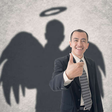 Photo for Concept of business angel . - Royalty Free Image