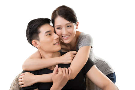 Photo for portrait of attractive young Asian couple - Royalty Free Image