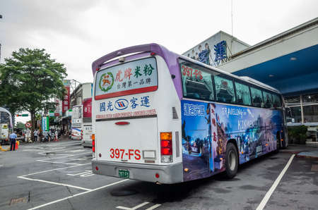 Foto per Taichung, Taiwan - August 16th, 2019: taichung chaoma long distance intercity bus station with Kuo-Kuang Motor, Taiwan - Immagine Royalty Free