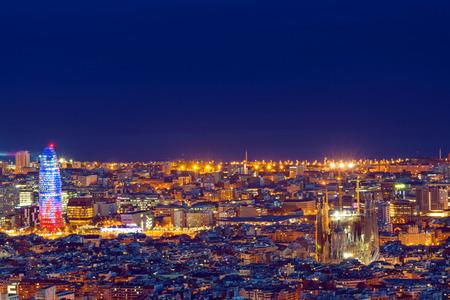 Foto de Barcelona at night - Imagen libre de derechos