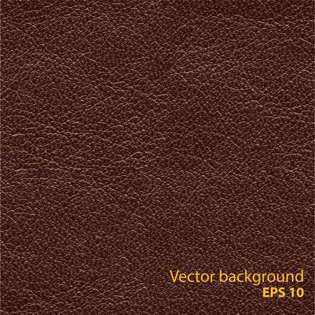 Illustration pour Seamless brown natural leather texture, detalised vector background - image libre de droit