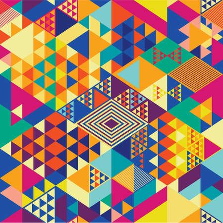 Ilustración de Background with decorative geometric and abstract elements. Vector illustration. - Imagen libre de derechos