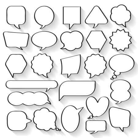 Ilustración de Balloon message collection set vector for anything design - Imagen libre de derechos