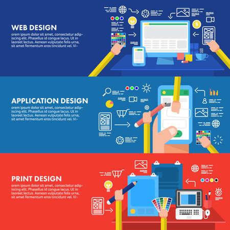 Illustration pour Flat design concept design website application and print. - image libre de droit