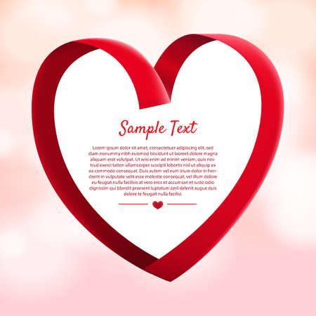 Illustration pour Layout design mockup for concept valentine festive love moment. Illustrator vector. - image libre de droit