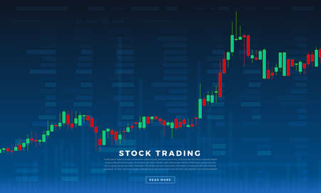Illustration pour Flat design concept stock exchang and trader. Financial market business with graph chart analysis. Vector illustrations. - image libre de droit