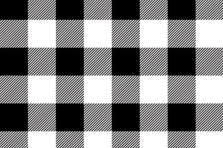 Illustration for Black gingham pattern. Texture from rhombus/squares for - plaid, tablecloths, clothes, shirts, dresses, paper, bedding, blankets, quilts and other textile products.Vector illustration.EPS-10. - Royalty Free Image