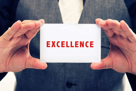 Executive Holding card with Message Saying-Excellence
