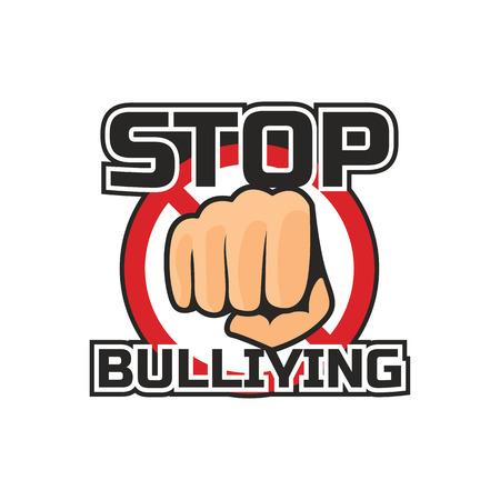 Illustrazione per stop bullying, no bullying logo, vector illustration - Immagini Royalty Free