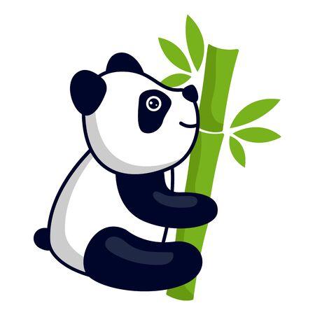 Illustration pour panda bear logo isolated on white background. vector illustration - image libre de droit