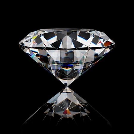 Foto de Diamond jewel on black surface - Imagen libre de derechos