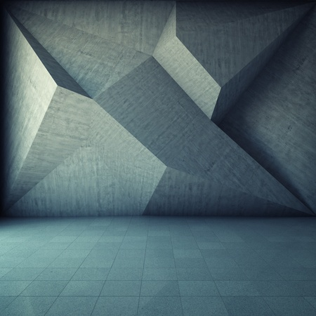 Photo for Abstract geometric background of the concrete - Royalty Free Image