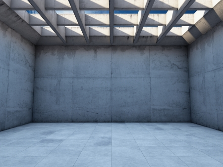 Photo for Large empty room with concrete walls - Royalty Free Image