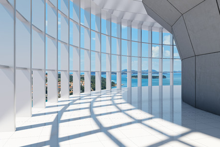 Photo for Office building with large panoramic sea views - Royalty Free Image