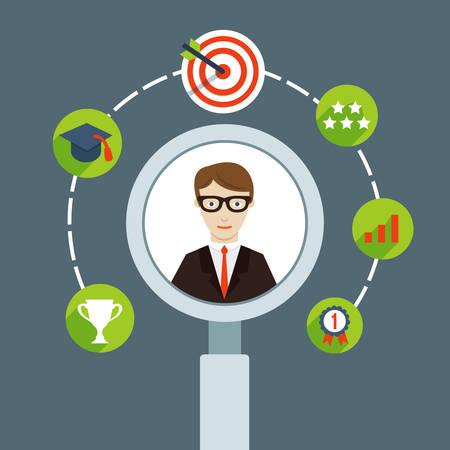 Illustration pour Selection of business personnel - vector illustration - image libre de droit