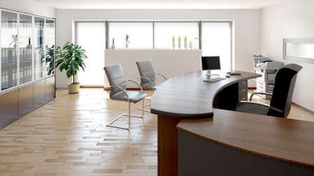 Photo for 3D interior rendering of a modern office - Royalty Free Image