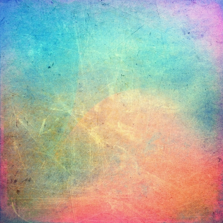 Photo pour Colorful scratched vintage background - image libre de droit