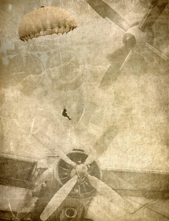 Photo for Grunge military background, retro aviation - Royalty Free Image