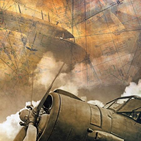 Foto de Retro aviation backround - Imagen libre de derechos