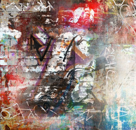 Photo for Graffiti wall background - Royalty Free Image
