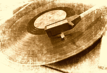 Photo for Vinyl player music background - Royalty Free Image
