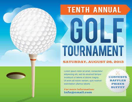 A nice design for a golf tournament invitation.