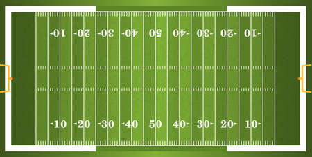Illustration pour A vector grass textured American football field. EPS 10. File contains transparencies.  - image libre de droit