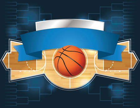 A vector illustration of a basketball tournament concept