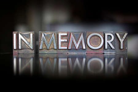 Photo for The words In Memory written in vintage letterpress type - Royalty Free Image