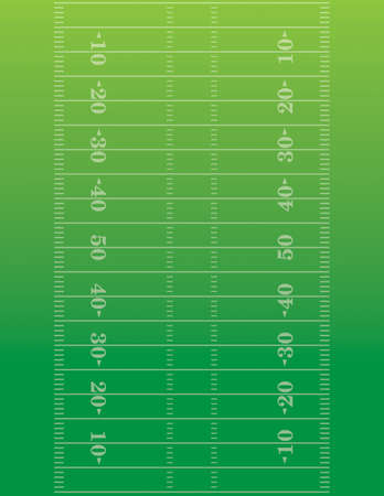 Illustration pour American football field background - image libre de droit