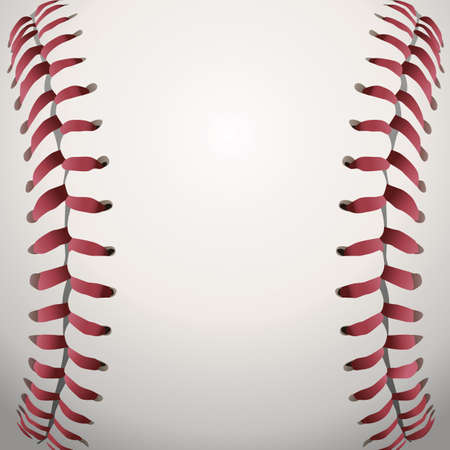 Illustration for A closeup background illustration of baseball laces. - Royalty Free Image