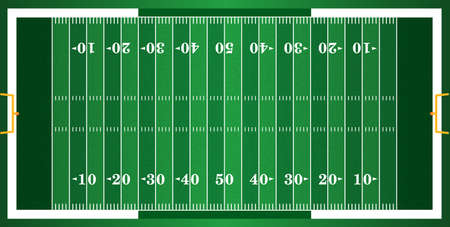 Illustration pour A grass textured American football field. EPS 10. File contains transparencies. - image libre de droit