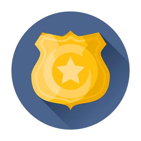 Illustration pour police badge icon vector illustration - image libre de droit