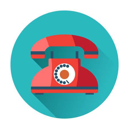 Illustration pour retro phone icon trendy flat illustration - image libre de droit