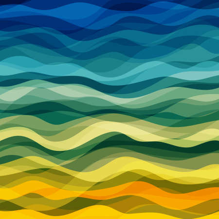 Illustration pour Abstract Design Creativity Background of Yellow and Green Waves, Vector Illustration EPS10 - image libre de droit
