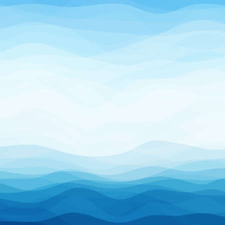 Ilustración de Abstract Design Creativity Background of Blue Waves  - Imagen libre de derechos