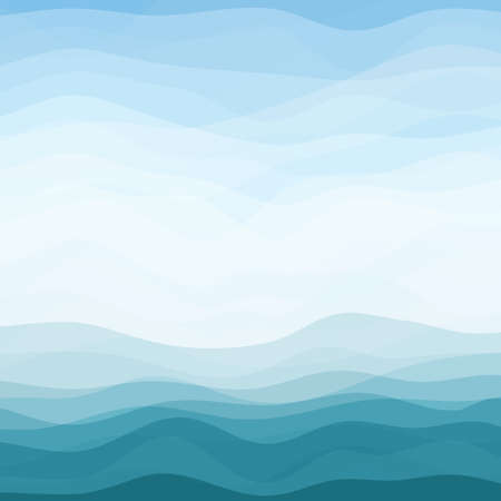 Illustration pour Abstract Design Creativity Background of Blue Horizontal Waves - image libre de droit
