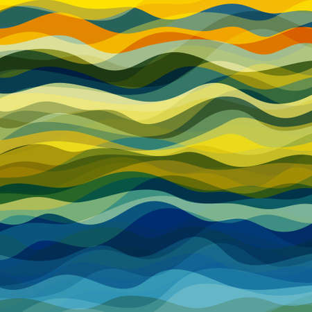 Illustration pour Abstract Design Creativity Background of Yellow and Green Waves - image libre de droit