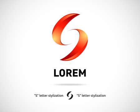Illustration pour Combination of Letter S. Abstract Vector icon Design Template. Creative Concept Icon - image libre de droit