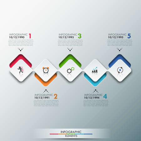 Ilustración de Modern Infographics Process Template - Imagen libre de derechos