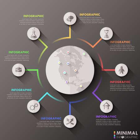 Ilustración de Modern Infographic Options Banner - Imagen libre de derechos