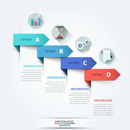 Illustration pour Modern infographic option banner - image libre de droit