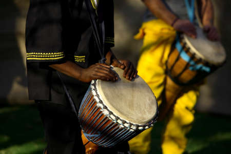 Photo for African traditional drummer. - Royalty Free Image