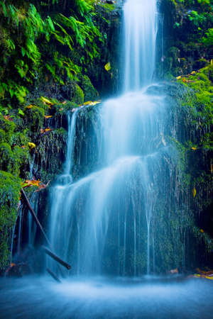 Photo pour Beautiful Lush Waterfall - image libre de droit