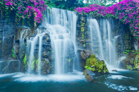 Photo for Beautiful Blue Waterfall in Hawaii - Royalty Free Image
