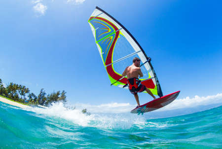 Photo for Windsurfing, Fun in the ocean, Extreme Sport - Royalty Free Image