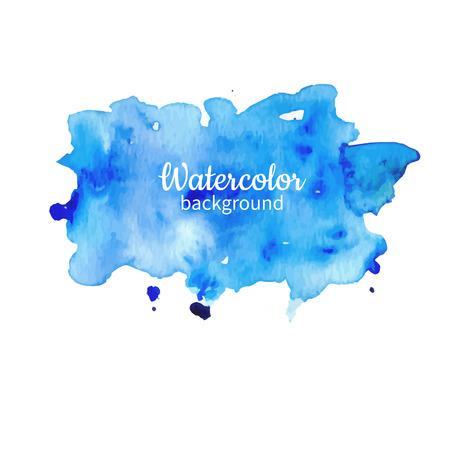 Ilustración de Watercolor blue abstract hand painted illustration. - Imagen libre de derechos
