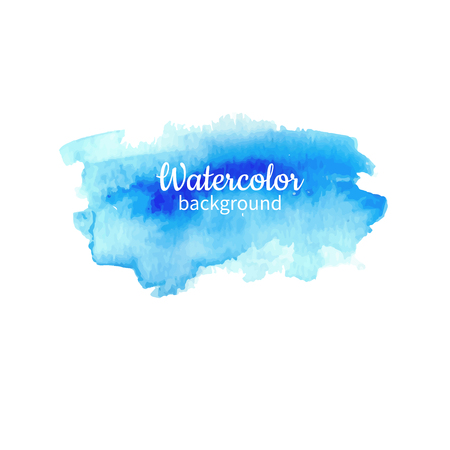 Illustrazione per Watercolor blue abstract hand painted background. Watercolor vector texture. Great for card, flyer, poster. - Immagini Royalty Free