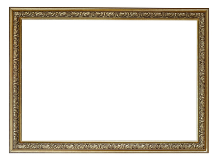 Photo for Blank vintage frame isolated on white background - Royalty Free Image
